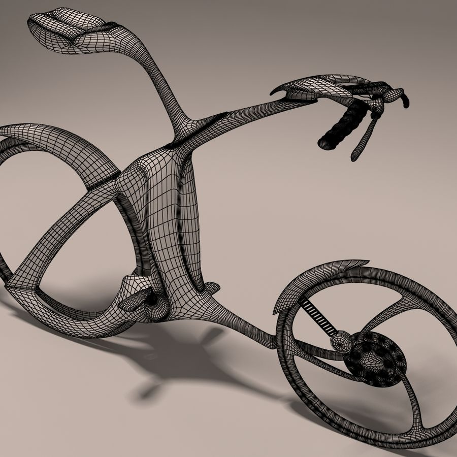 Futuristic bicycle design royalty-free 3d model - Preview no. 4