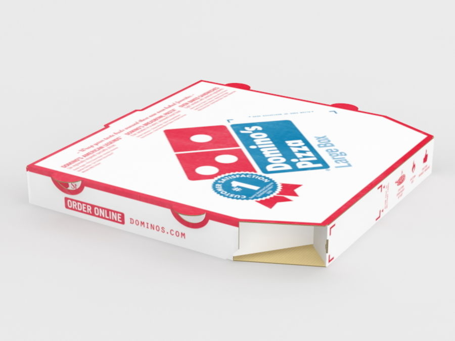 Pizza Box royalty-free 3d model - Preview no. 6
