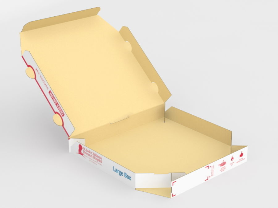 Pizza Box royalty-free 3d model - Preview no. 5
