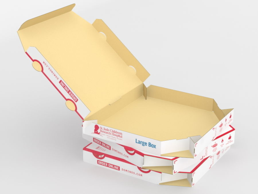 Pizza Box royalty-free 3d model - Preview no. 2