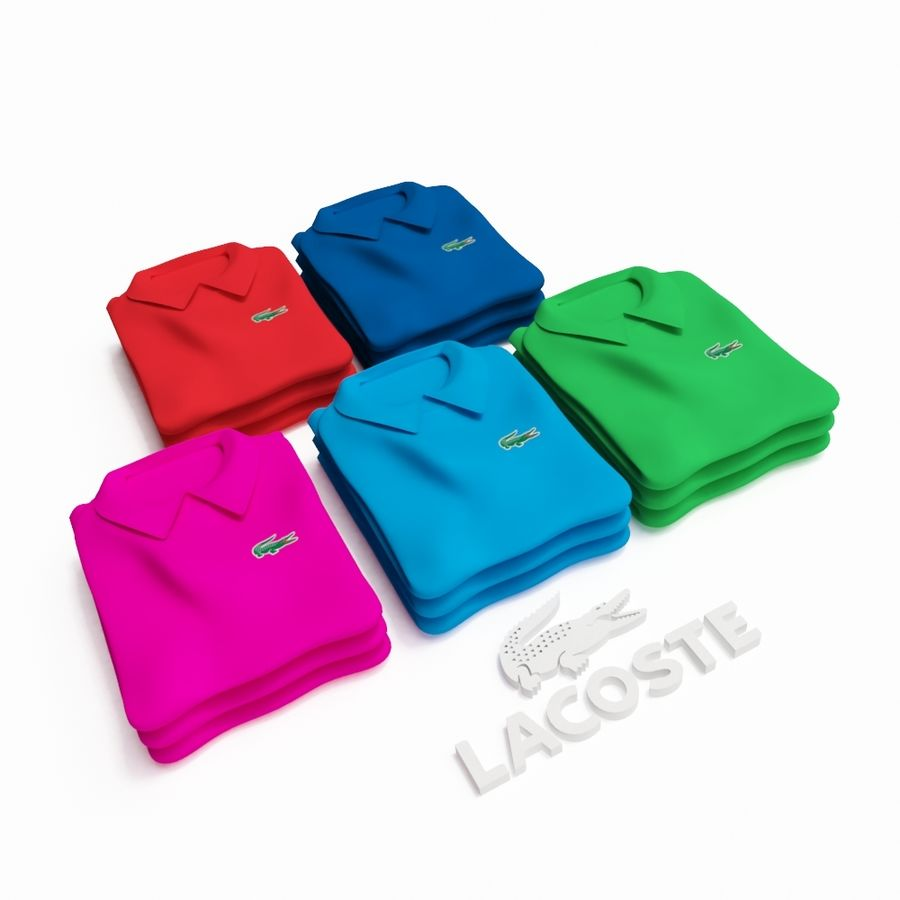 T恤Polo Lacoste royalty-free 3d model - Preview no. 1