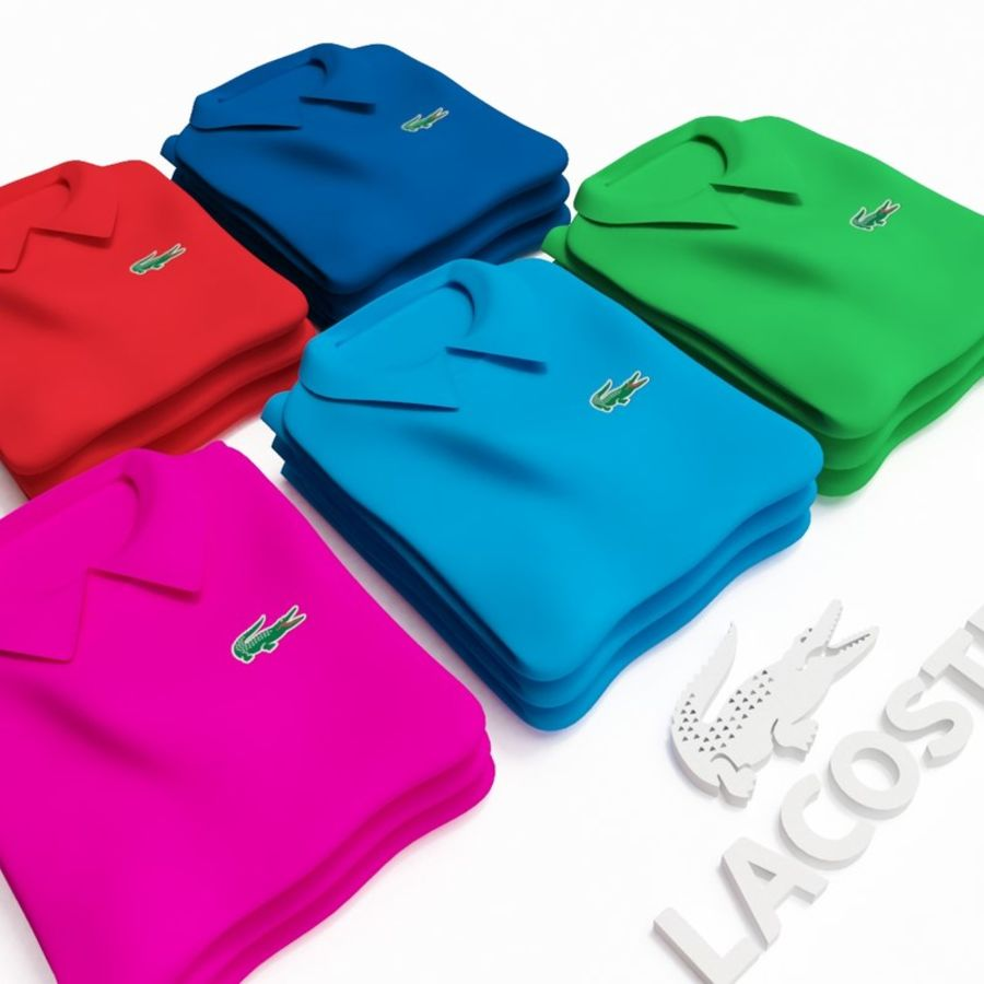 T恤Polo Lacoste royalty-free 3d model - Preview no. 2