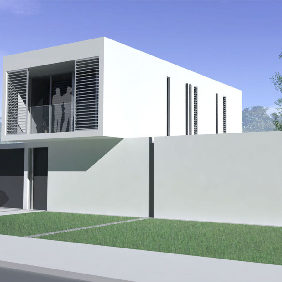 Modern House royalty-free 3d model - Preview no. 1