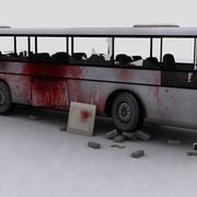 Zombie Destroyed Coach 3d model