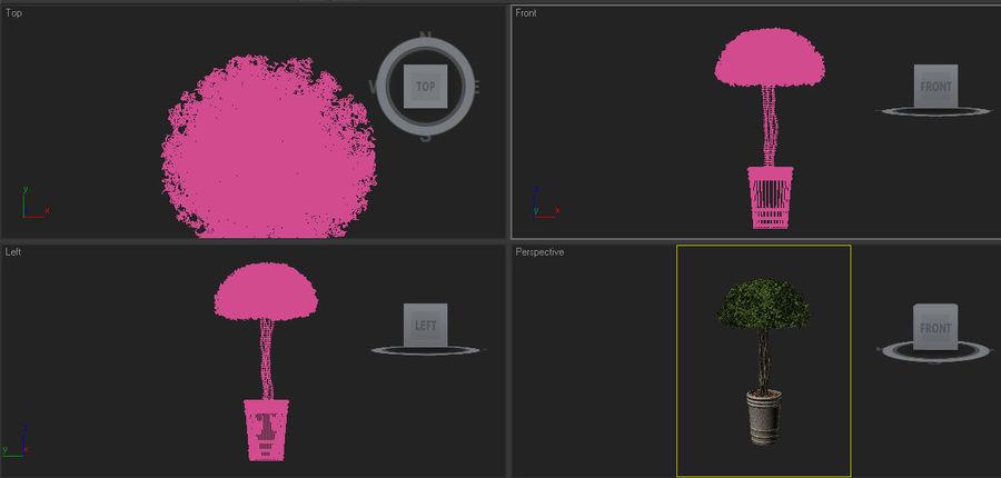 bush shrub(1) royalty-free 3d model - Preview no. 3