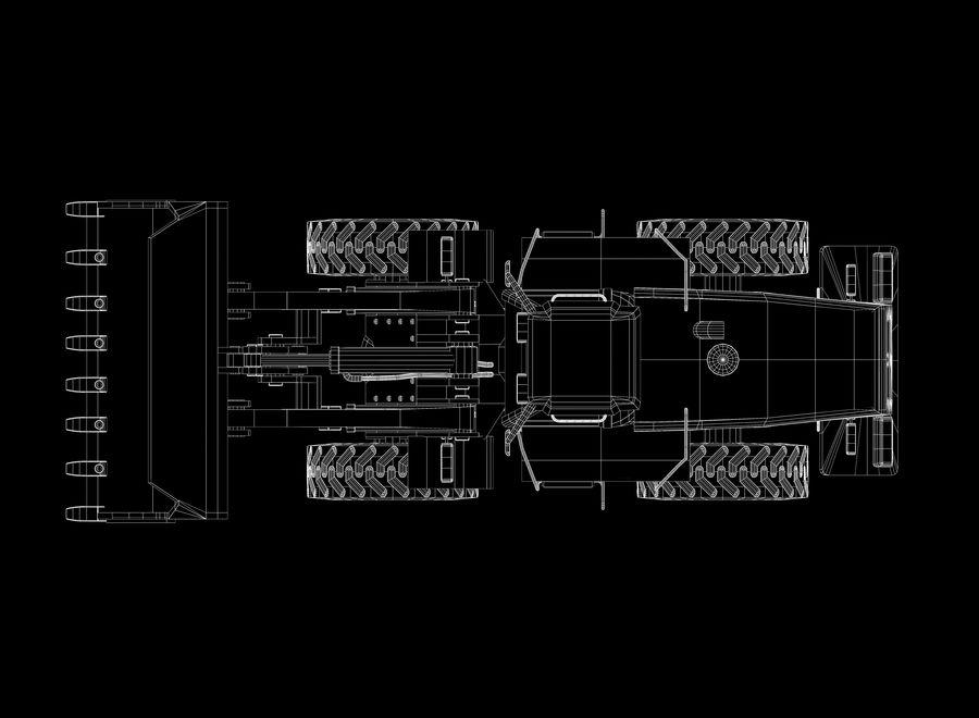 Ładowacz czołowy royalty-free 3d model - Preview no. 10