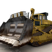 OLD BULLDOZER 3d model