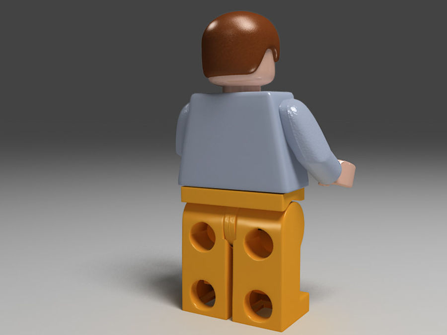 lego man royalty-free 3d model - Preview no. 4
