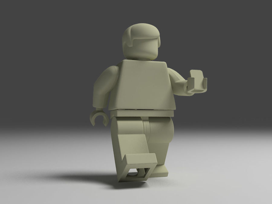 lego man royalty-free 3d model - Preview no. 3