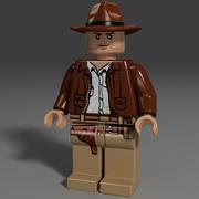 lego cowboy 3d model