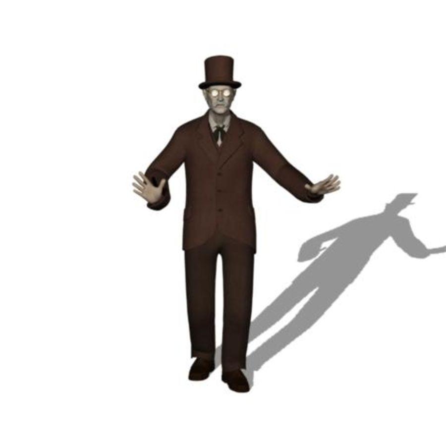 19th century Man royalty-free 3d model - Preview no. 14