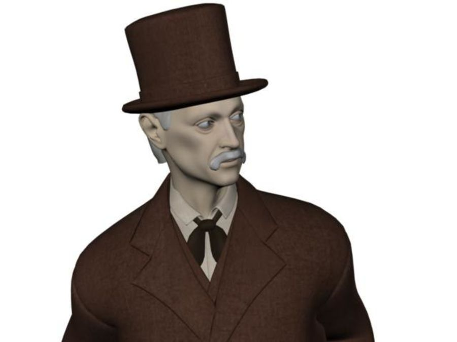 Homem do século XIX royalty-free 3d model - Preview no. 18