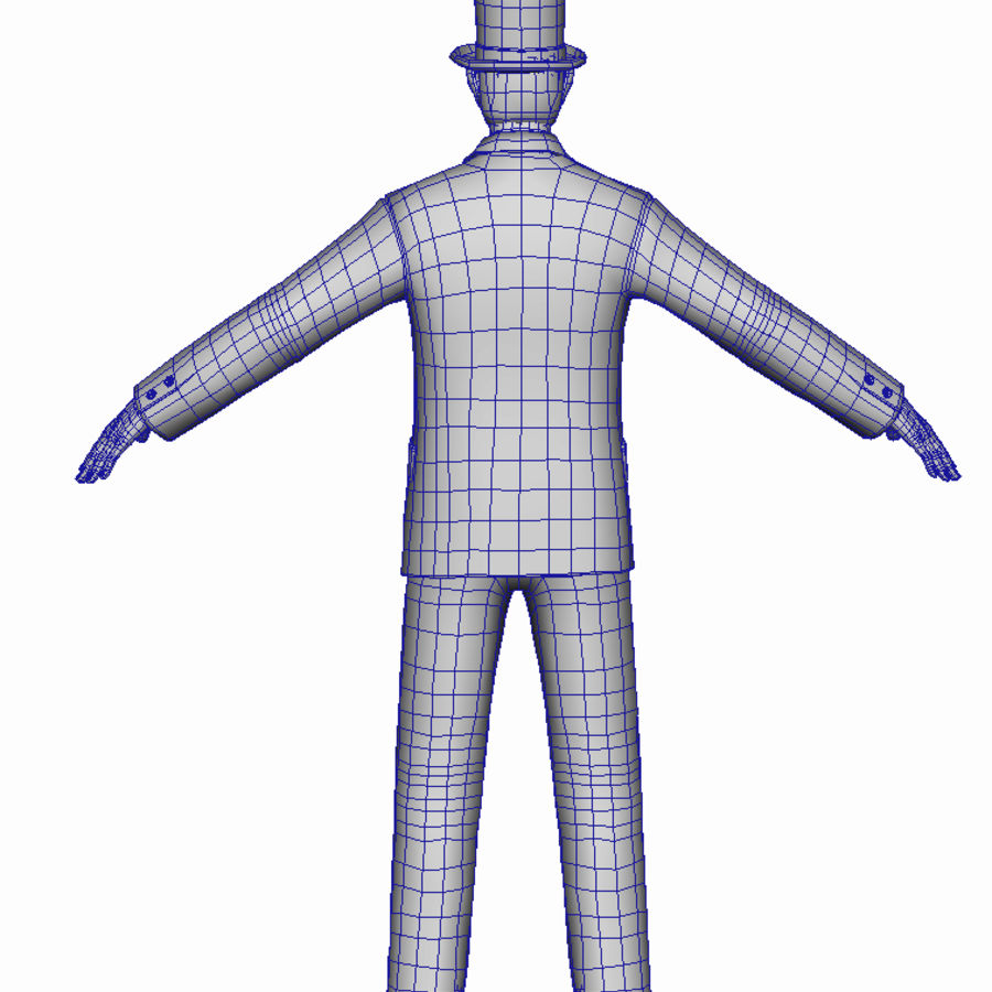 Homem do século XIX royalty-free 3d model - Preview no. 24