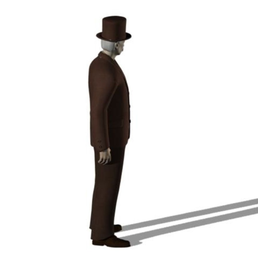 19th century Man royalty-free 3d model - Preview no. 6