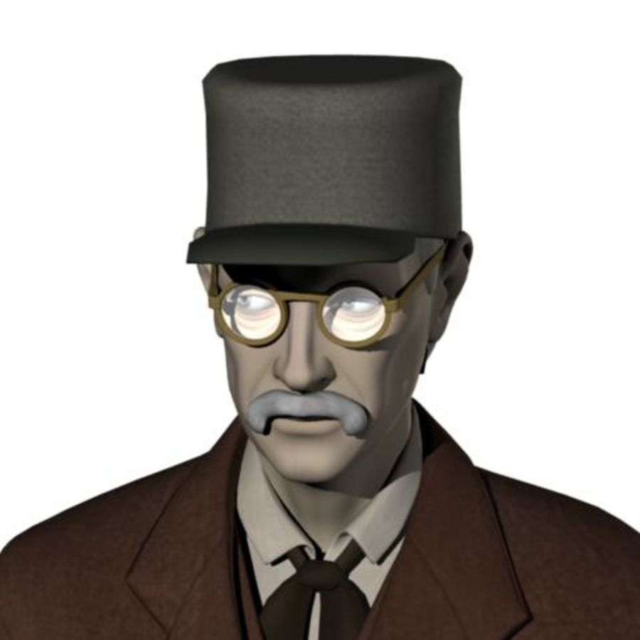 19th century Man royalty-free 3d model - Preview no. 19