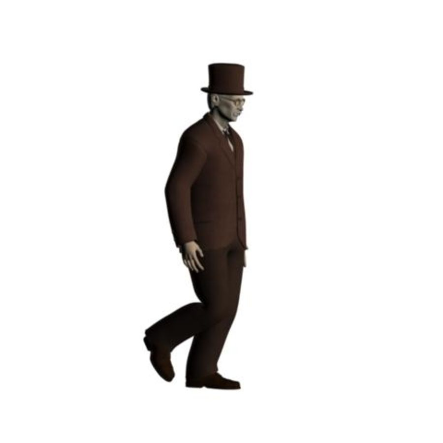 19th century Man royalty-free 3d model - Preview no. 10