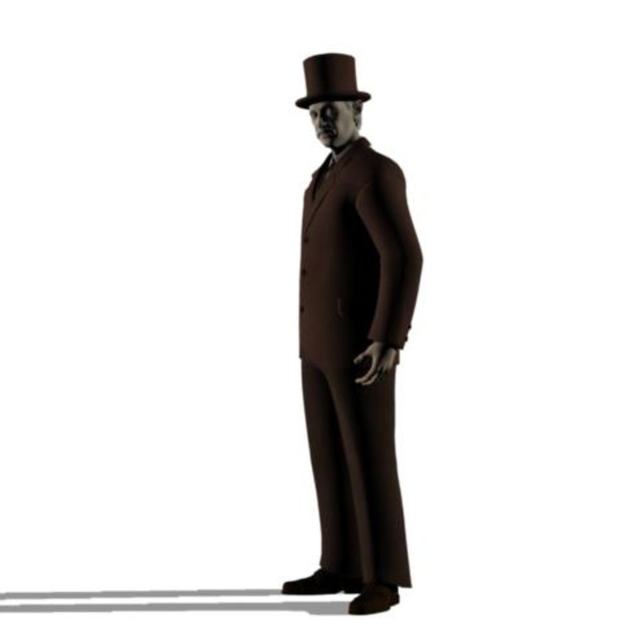 19th century Man royalty-free 3d model - Preview no. 9