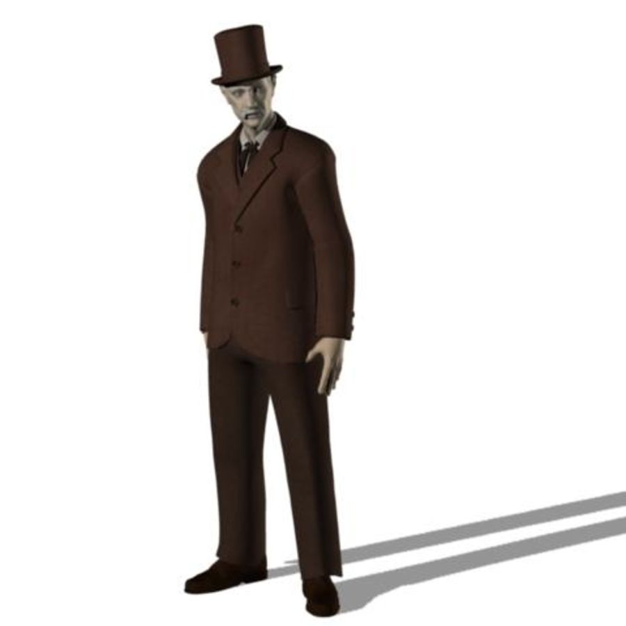 19th century Man royalty-free 3d model - Preview no. 5