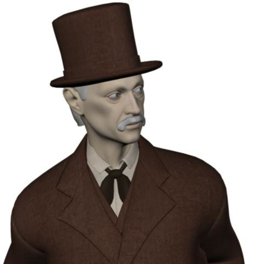 19th century Man royalty-free 3d model - Preview no. 18