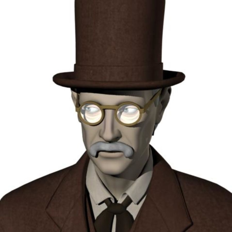 19th century Man royalty-free 3d model - Preview no. 1