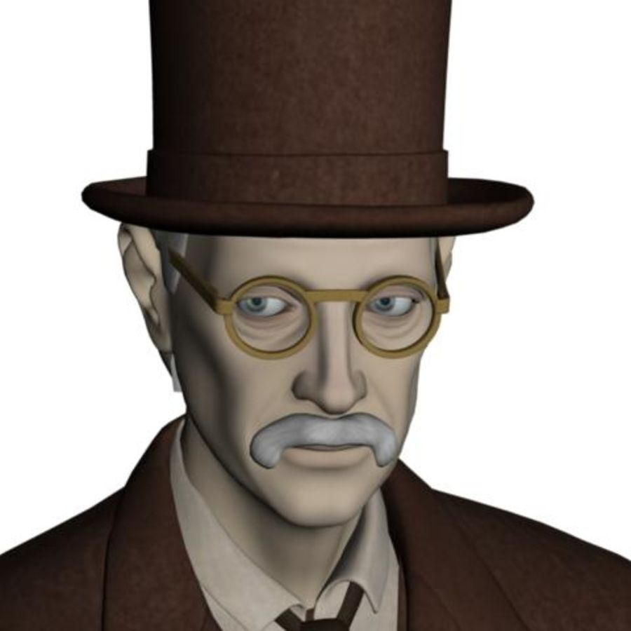 19th century Man royalty-free 3d model - Preview no. 17
