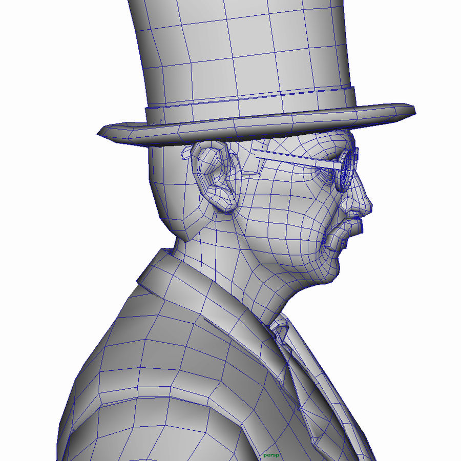 19th century Man royalty-free 3d model - Preview no. 22