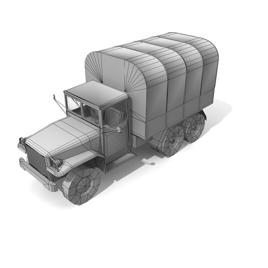 un camion royalty-free 3d model - Preview no. 9
