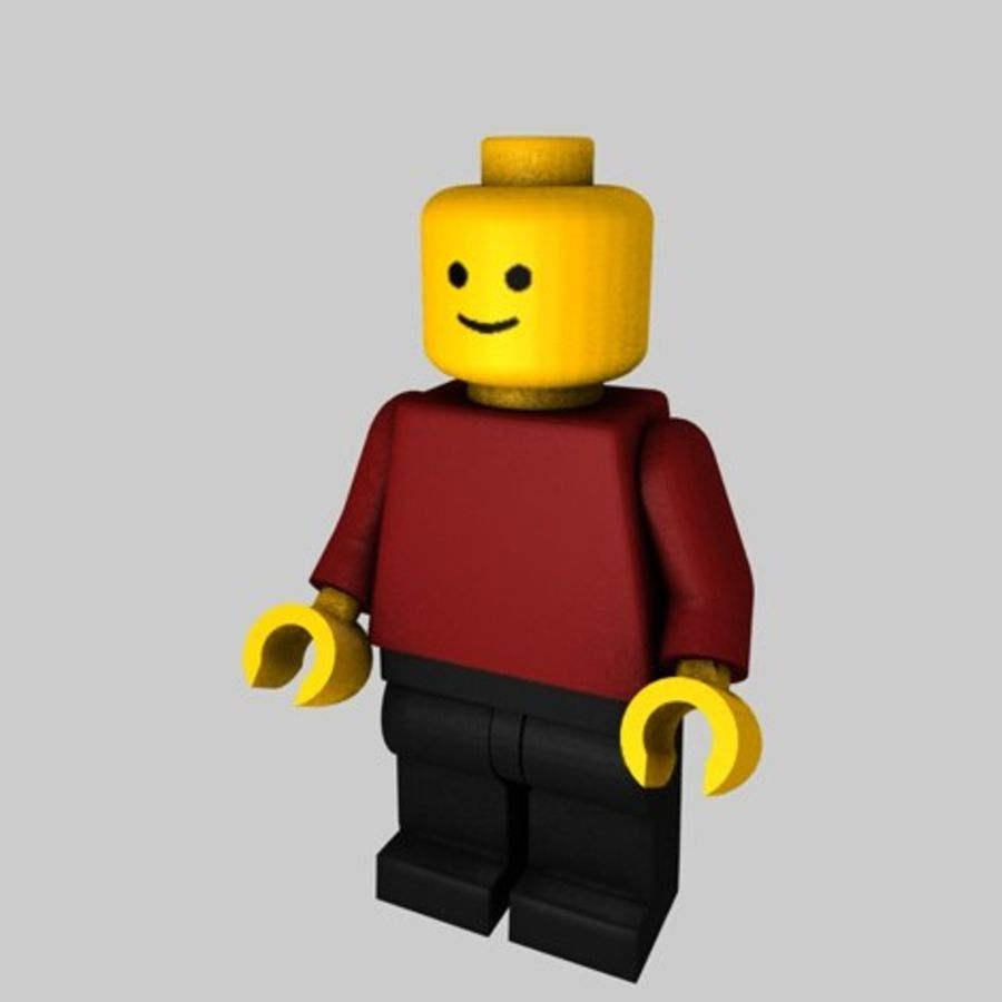 Lego Minifigure - Rigged and Textured royalty-free 3d model - Preview no. 2