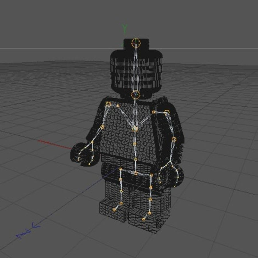 Lego Minifigure - Rigged and Textured royalty-free 3d model - Preview no. 4