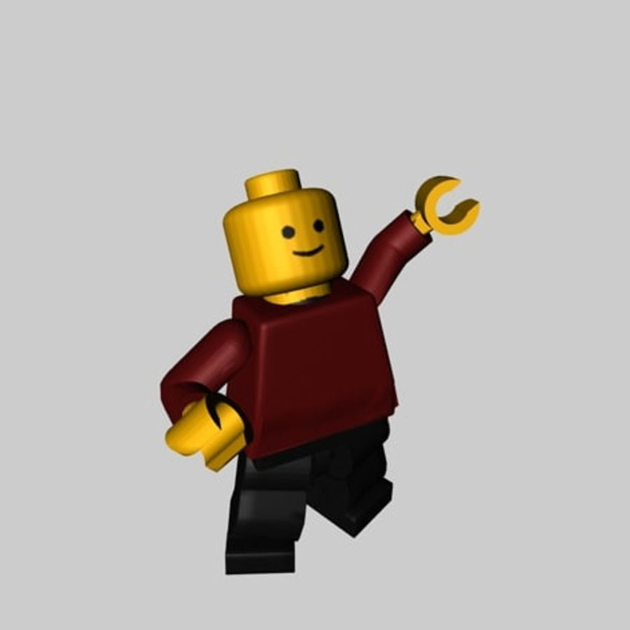 Lego Minifigure - Rigged and Textured royalty-free 3d model - Preview no. 1