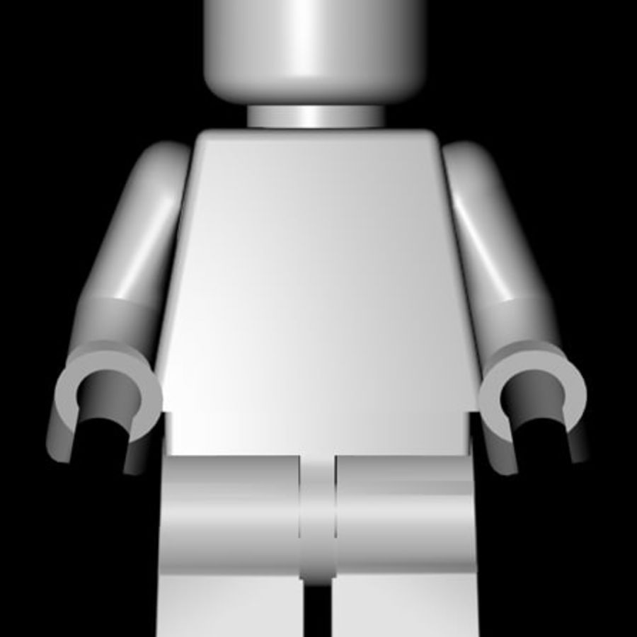 Lego Minifigure - Rigged and Textured royalty-free 3d model - Preview no. 5