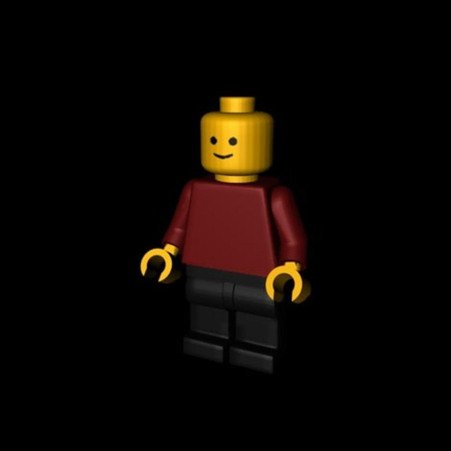 Lego Minifigure - Rigged and Textured royalty-free 3d model - Preview no. 3
