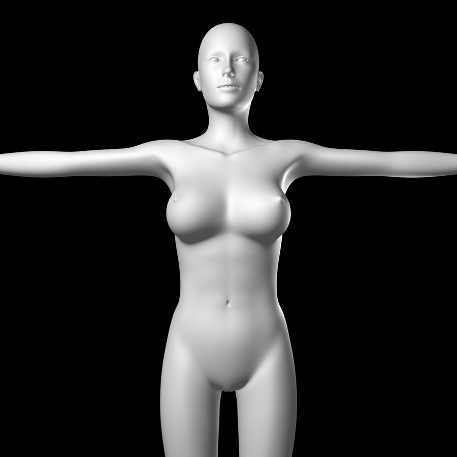Sexy_Female_BaseMesh royalty-free 3d model - Preview no. 3
