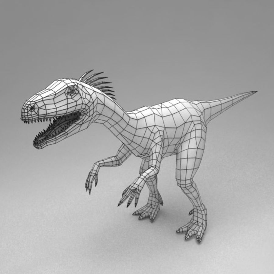 Raptor animated royalty-free 3d model - Preview no. 6