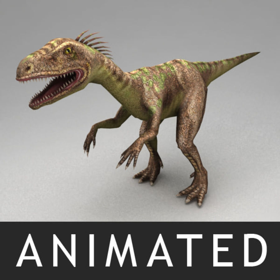Raptor animated royalty-free 3d model - Preview no. 1