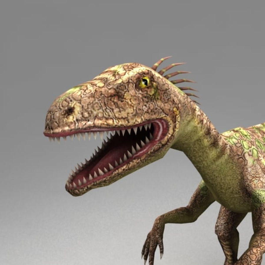 Raptor animated royalty-free 3d model - Preview no. 4