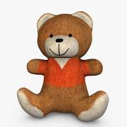 Teddy Bear con camicia arancione 3d model