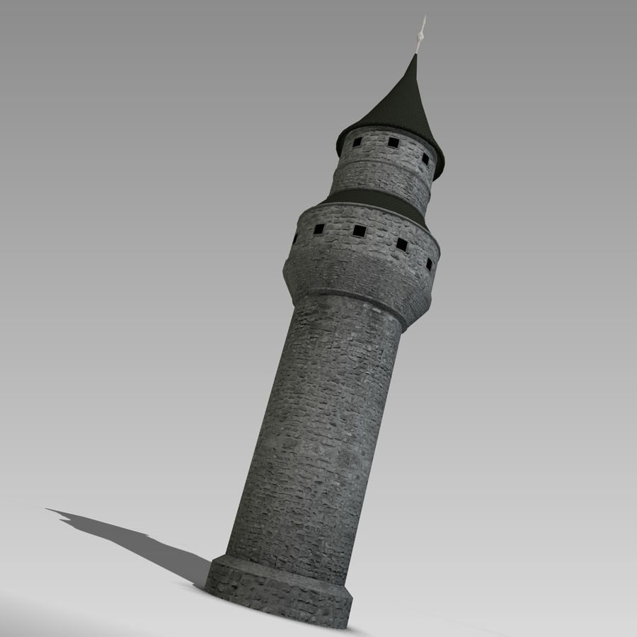 城堡塔 royalty-free 3d model - Preview no. 5