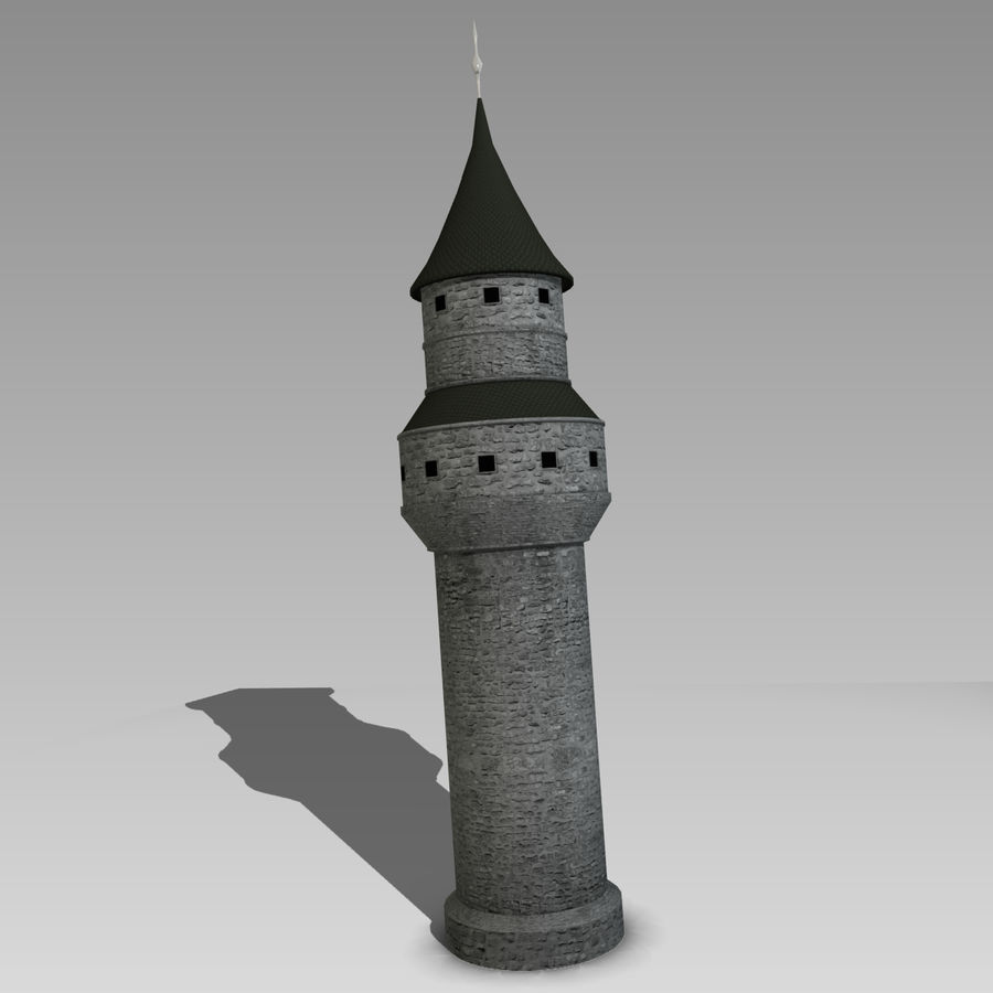 城堡塔 royalty-free 3d model - Preview no. 2