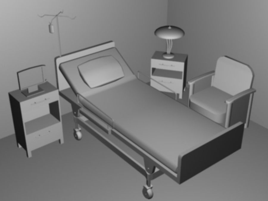 Scène de l'hôpital royalty-free 3d model - Preview no. 1