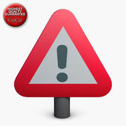 Construction Icons 19 Triangle Sign 1 3d model