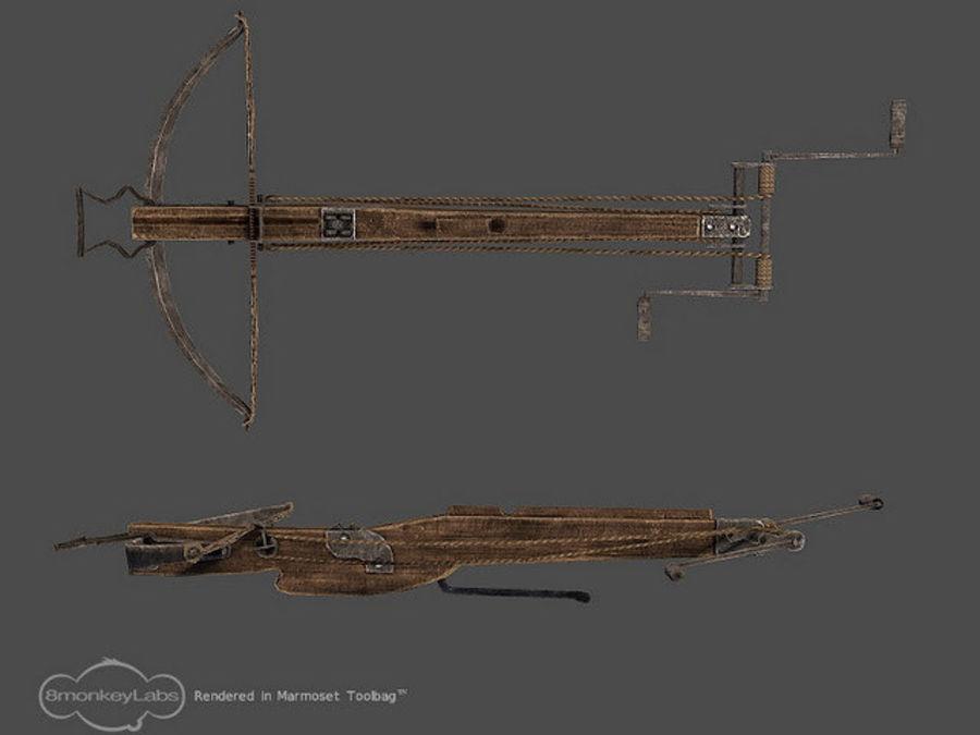 Średniowieczna Kusza royalty-free 3d model - Preview no. 1