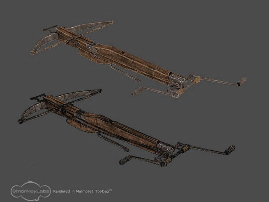 Średniowieczna Kusza royalty-free 3d model - Preview no. 5