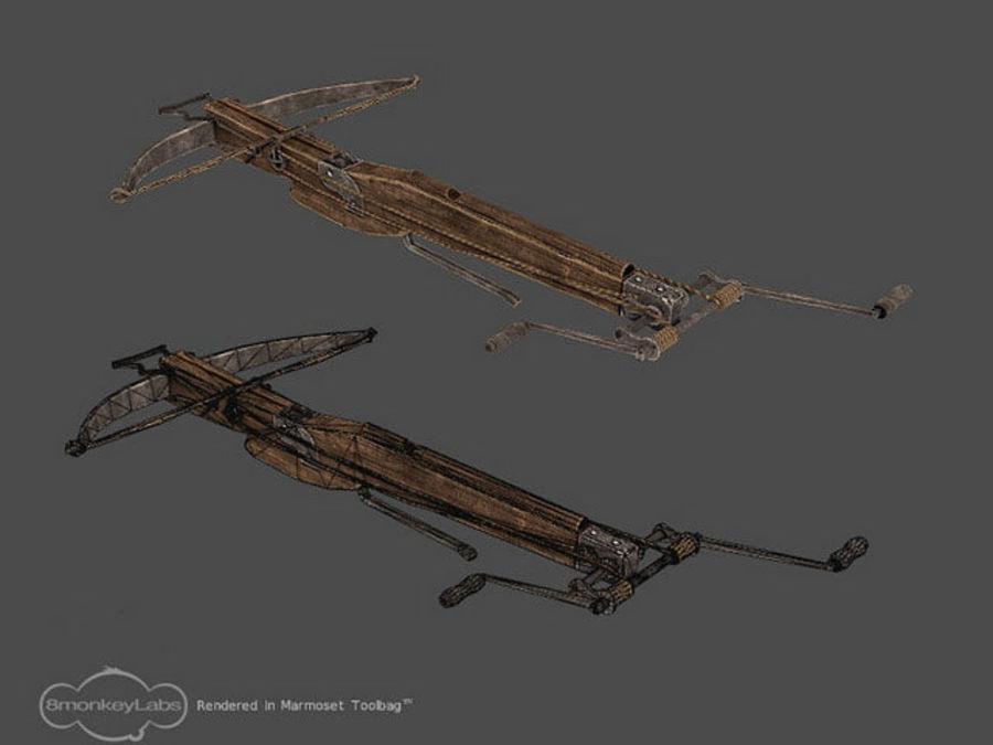 Średniowieczna Kusza royalty-free 3d model - Preview no. 3