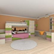 Conjunto de muebles de dormitorio para niños modelo 3d