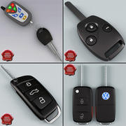 Remote Key Fobs Collection 3d model