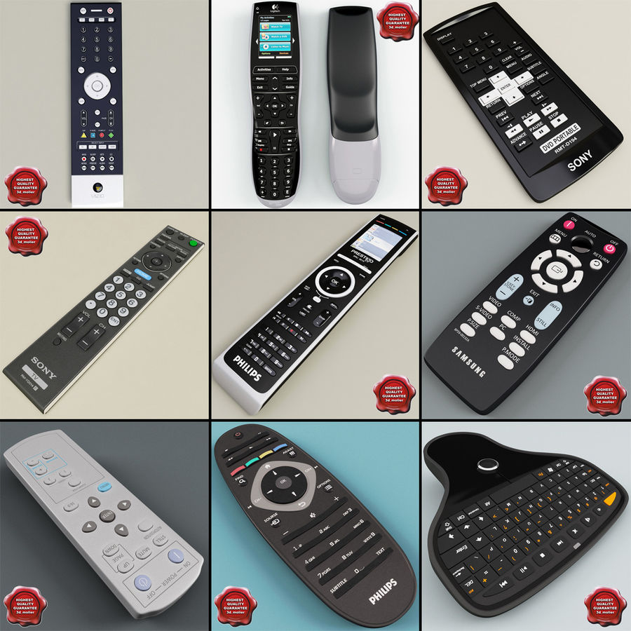 Remote Key Fobs Collection royalty-free 3d model - Preview no. 79