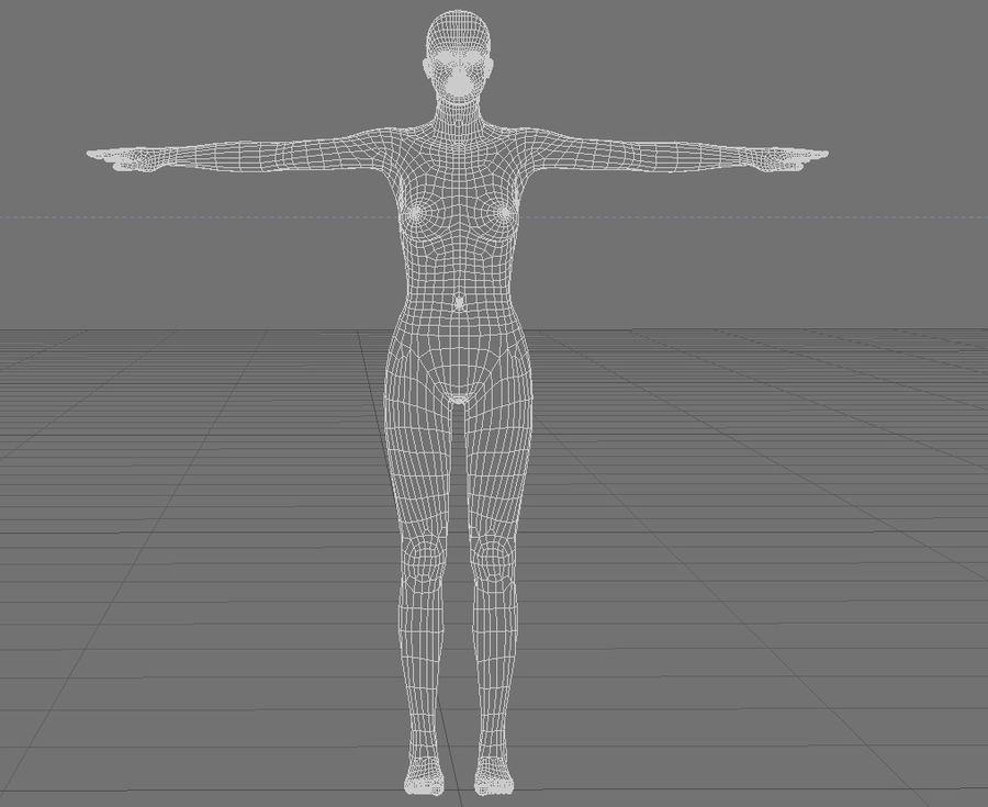 Женский манекен - манекен royalty-free 3d model - Preview no. 6
