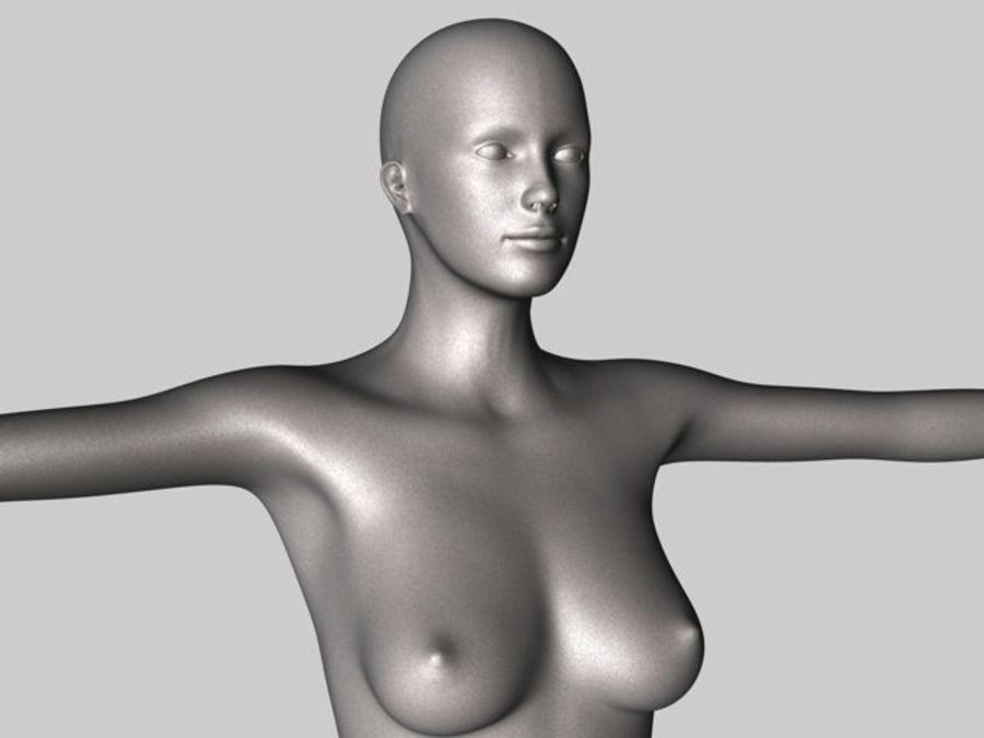 Женский манекен - манекен royalty-free 3d model - Preview no. 3