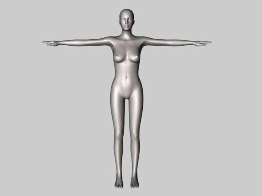 Женский манекен - манекен royalty-free 3d model - Preview no. 1